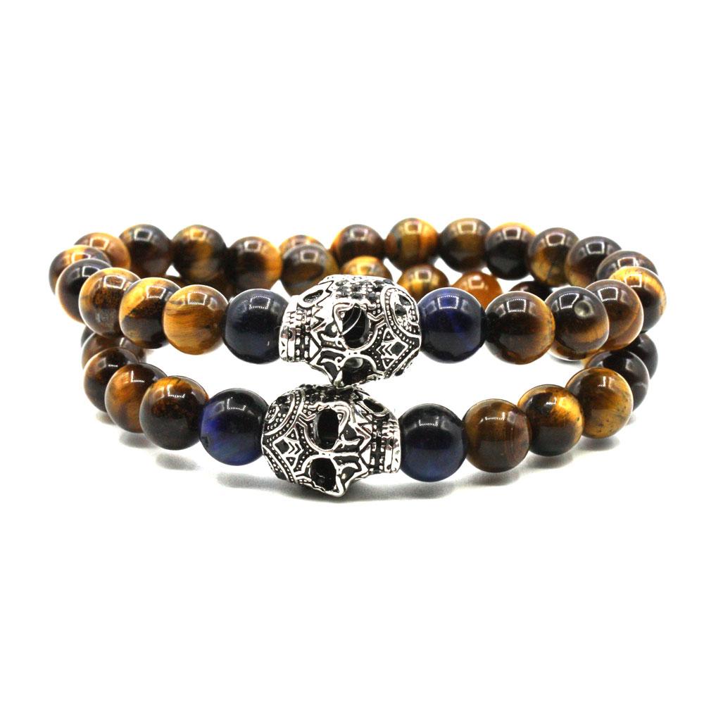 bracelet perles naturelles wrap-oeil-tigre-2-skull