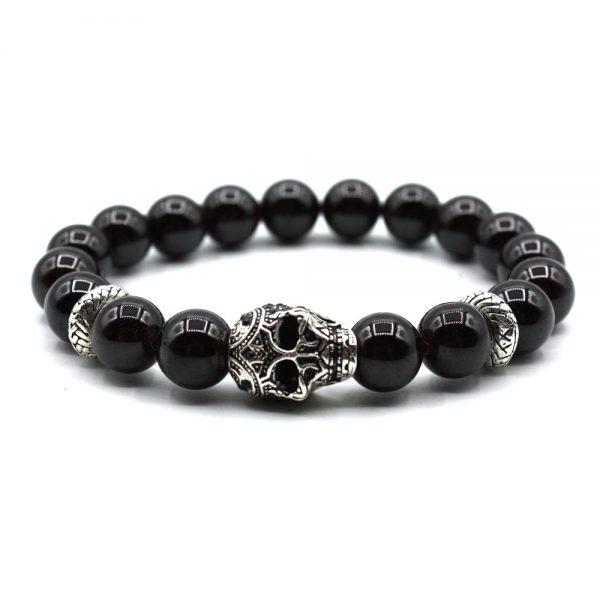 Bracelet-LLUKS-skull-onyx