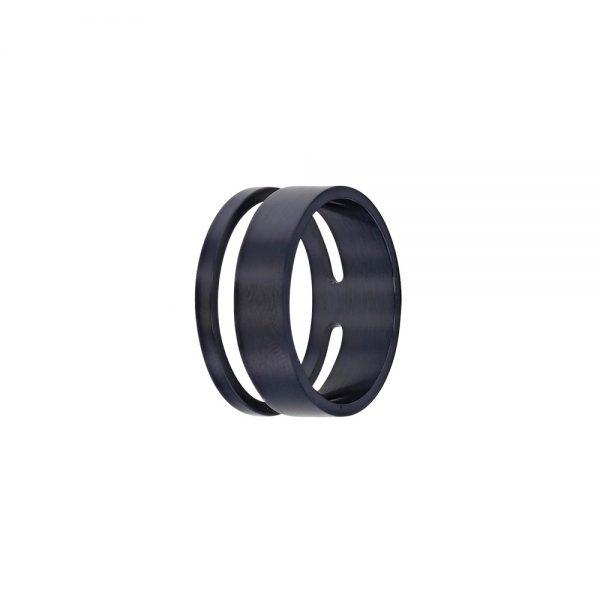 bague-ronde-ajouree-en-acier-bleu-fonce-pour-homme-3-31139762